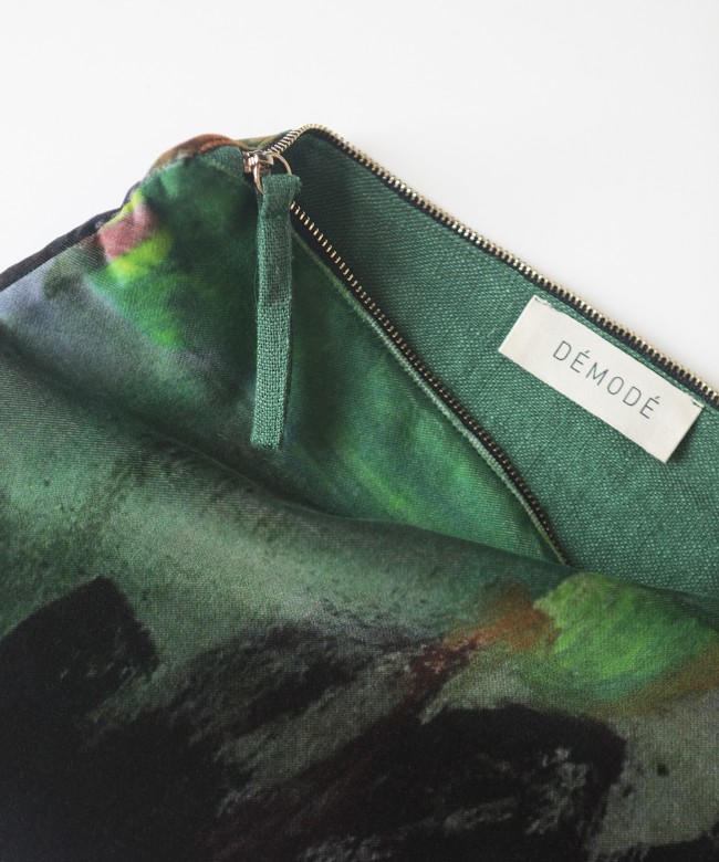 ghost green velvet purse
