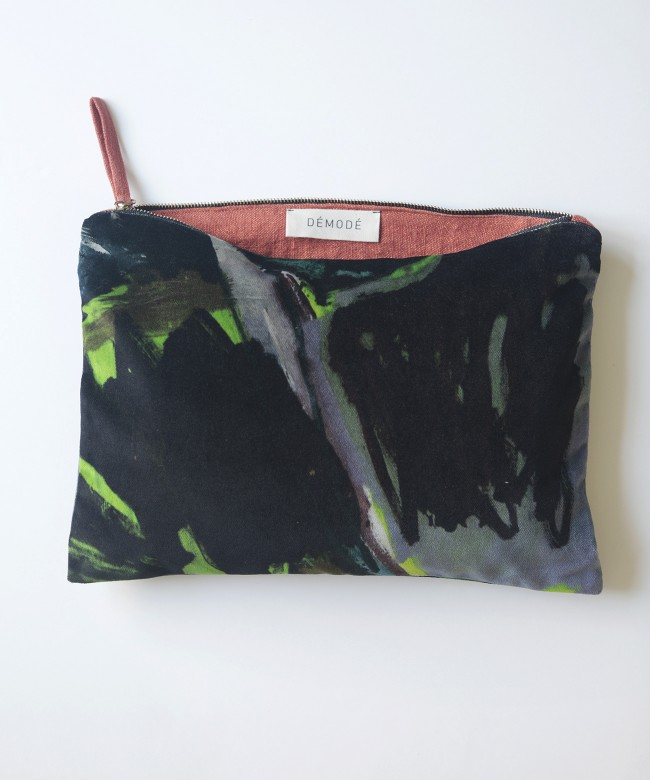 ghost black velvet purse