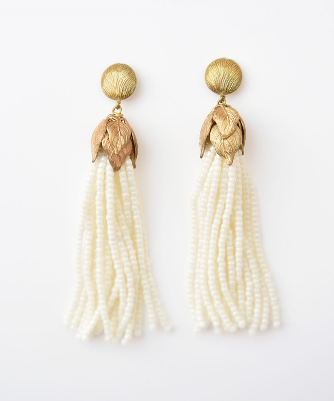 Japanese bird cherry fringe earring