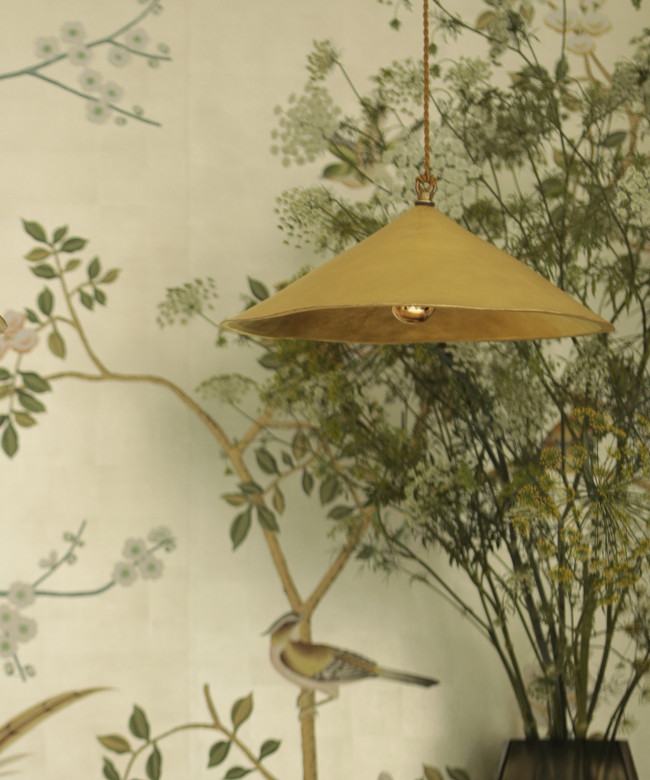 golden chinese lamp