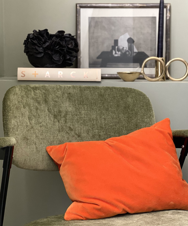 mandarine velvet cushion