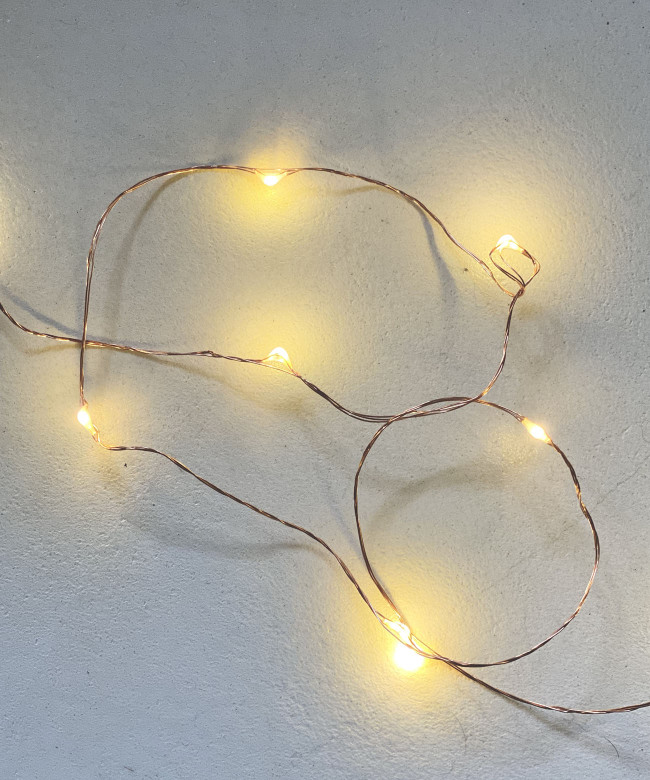 copper light garland