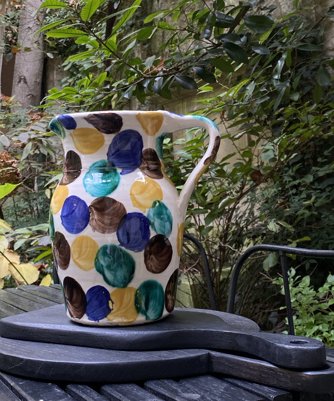 earthenware spotted jug