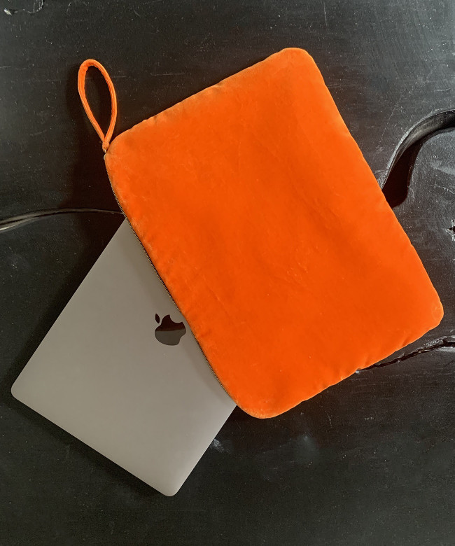 tangerine laptop case 13'