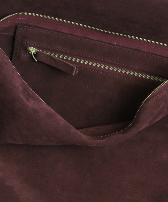 Clutch Bag STEPH burgundy suede