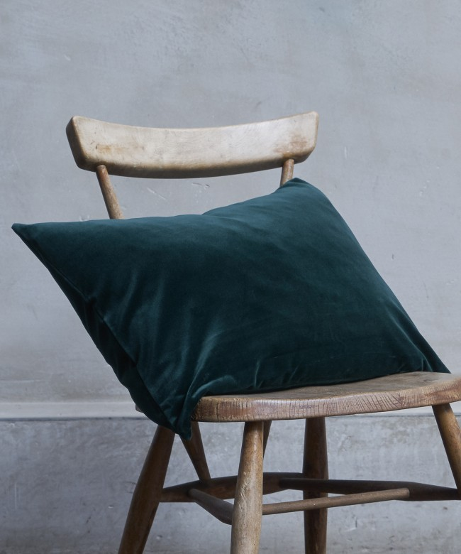 coussin velours sapin