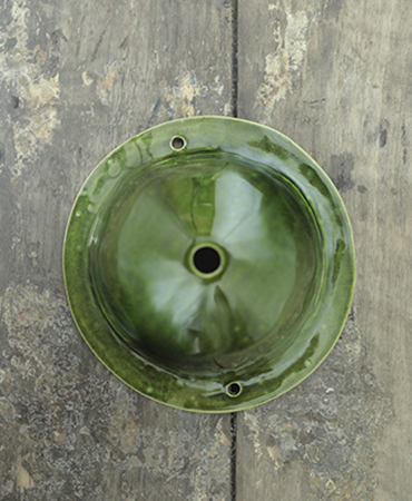 round ceiling cup m olive