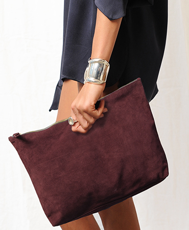 steph purse, buckskin, burgundy