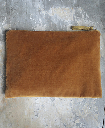 toffee velvet purse