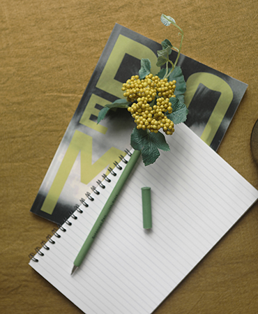 yellow achillea pen