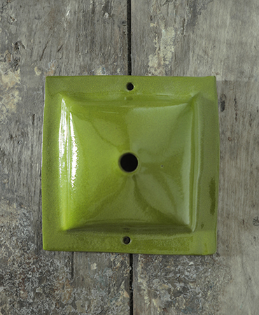 square ceiling cup avocado